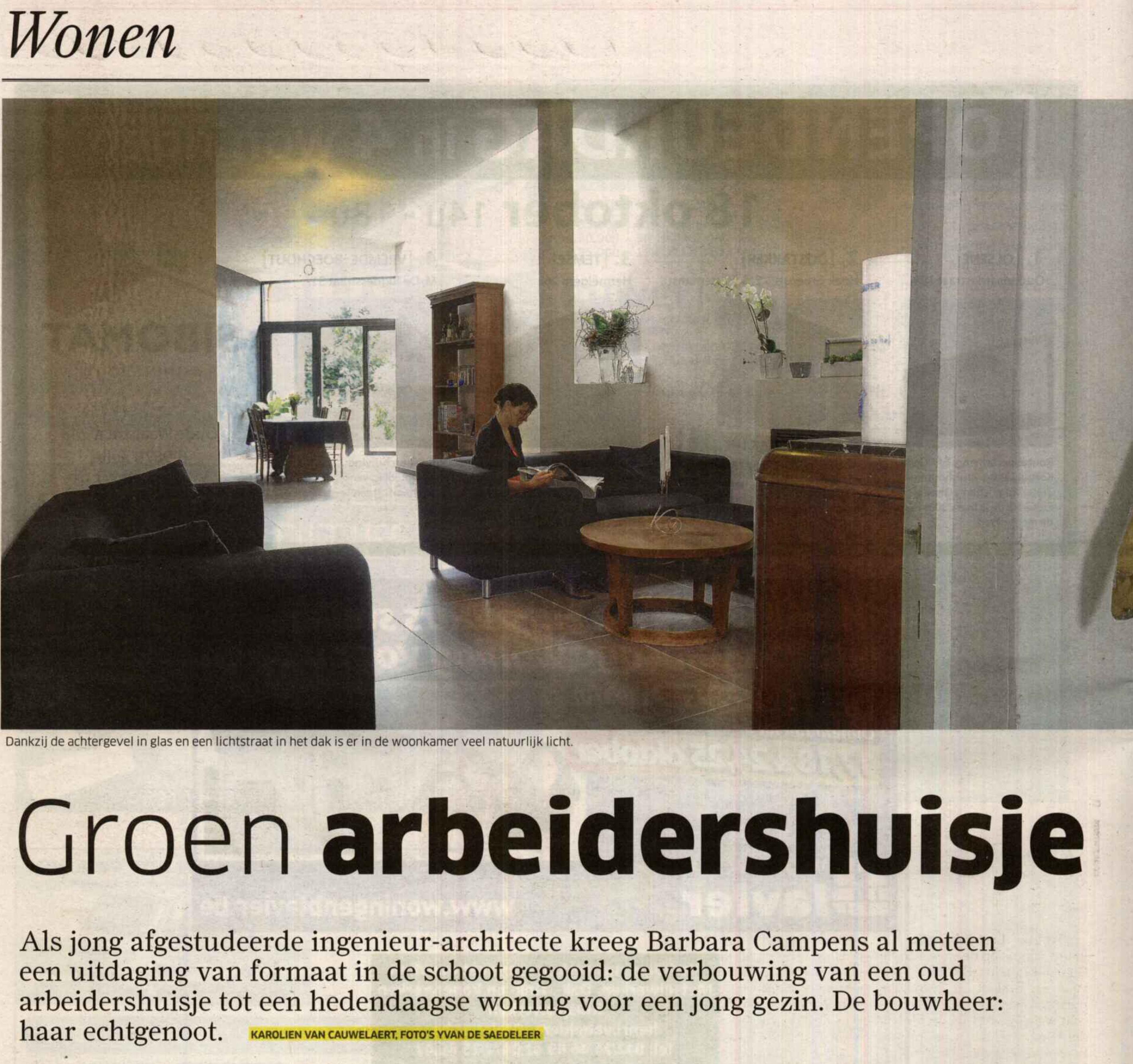 nieuws architectenbureau campens bvba. Black Bedroom Furniture Sets. Home Design Ideas